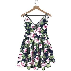 Windsor Tropical Floral Fit & Flare Mini Dress